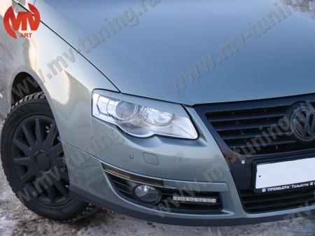 АБС-пластик Реснички на фары VW Passat B6